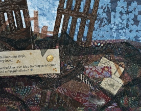 Carole Ann Frocillo   Fabric of Freedom (detail), 2012