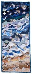 Carol Marshall   Time and Tide Cotton cloth, 2015 100 cm X 40 cm