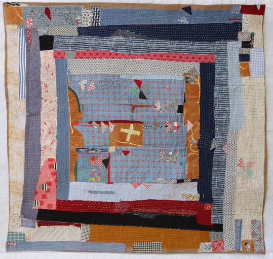 """Helen Geglio   A History of Toil: The Roost Cotton, linen, hand embroidered and stitched, 2015 36"""" X 37"""""""