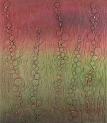 Peggy Wright | Seaweed Whole cloth, painting, free motion quilting