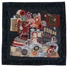"Carol Marshall | My Rescue cotton cloth, September, 2015 30"" X 30"""