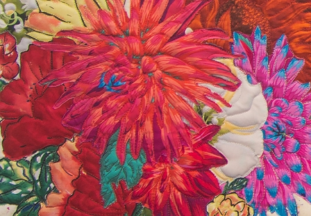 Katherine Simon Frank | Still Life with Dahlias (detail)